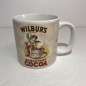 Wilbur's Breakfast Cocoa Mug Cup Advertising White